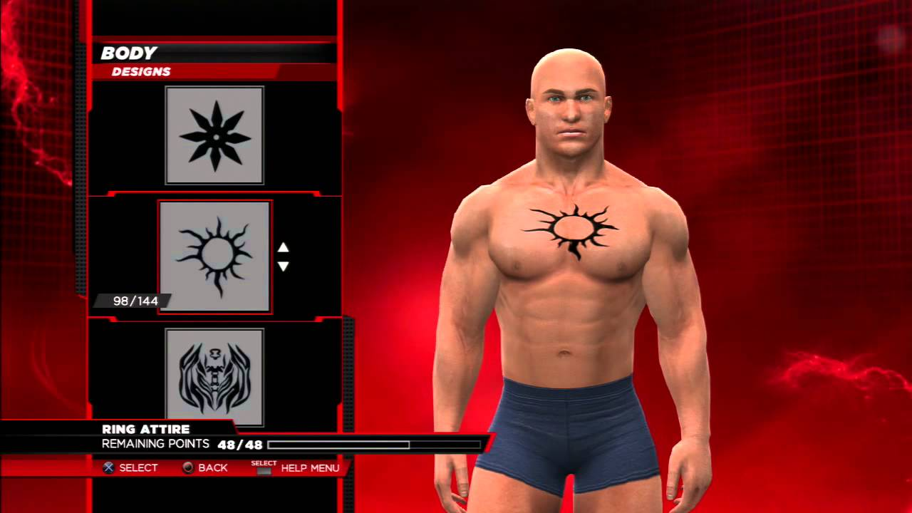2e5379510682c Wwe2k14 How To Make Batista s Belly Button Chest Tattoo Youtube - Best  Tattoo